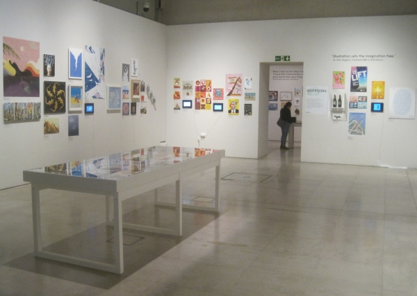 Installation view of World Illustration Awards 2018