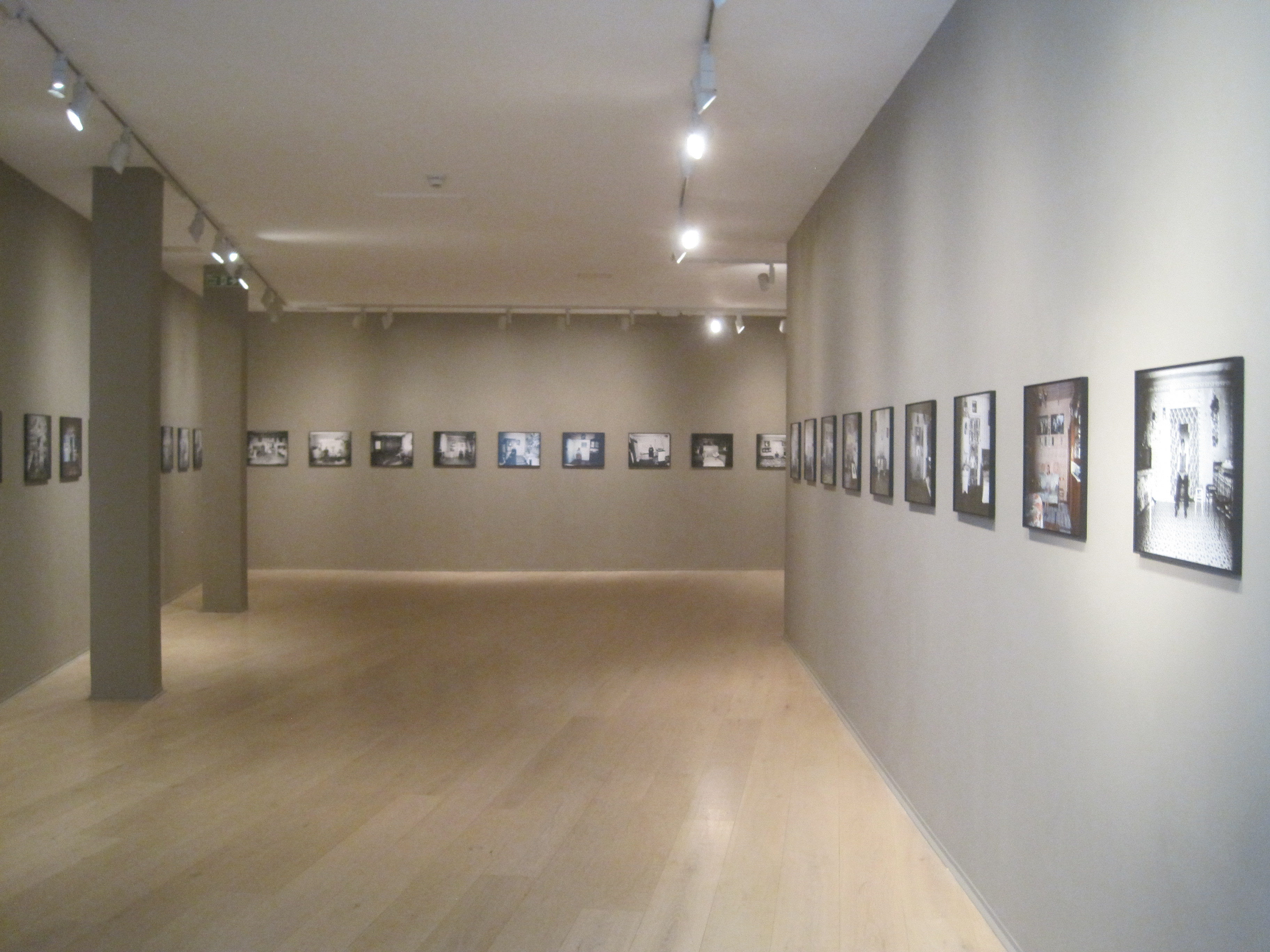 Installation view of photos by Zofia Rydet