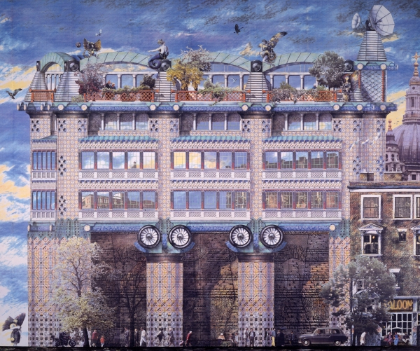 Project for 200 Victoria Street for Rosehaugh- Stanhope Developers (1988-90) Image credit: John Outram