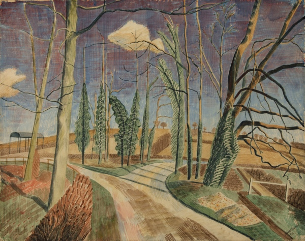 March: Noon, 1936 by Edward Bawden. Pencil on paper © The University of Manchester © Estate of Edward Bawden. Photo courtesy of the Whitworth, Manchester