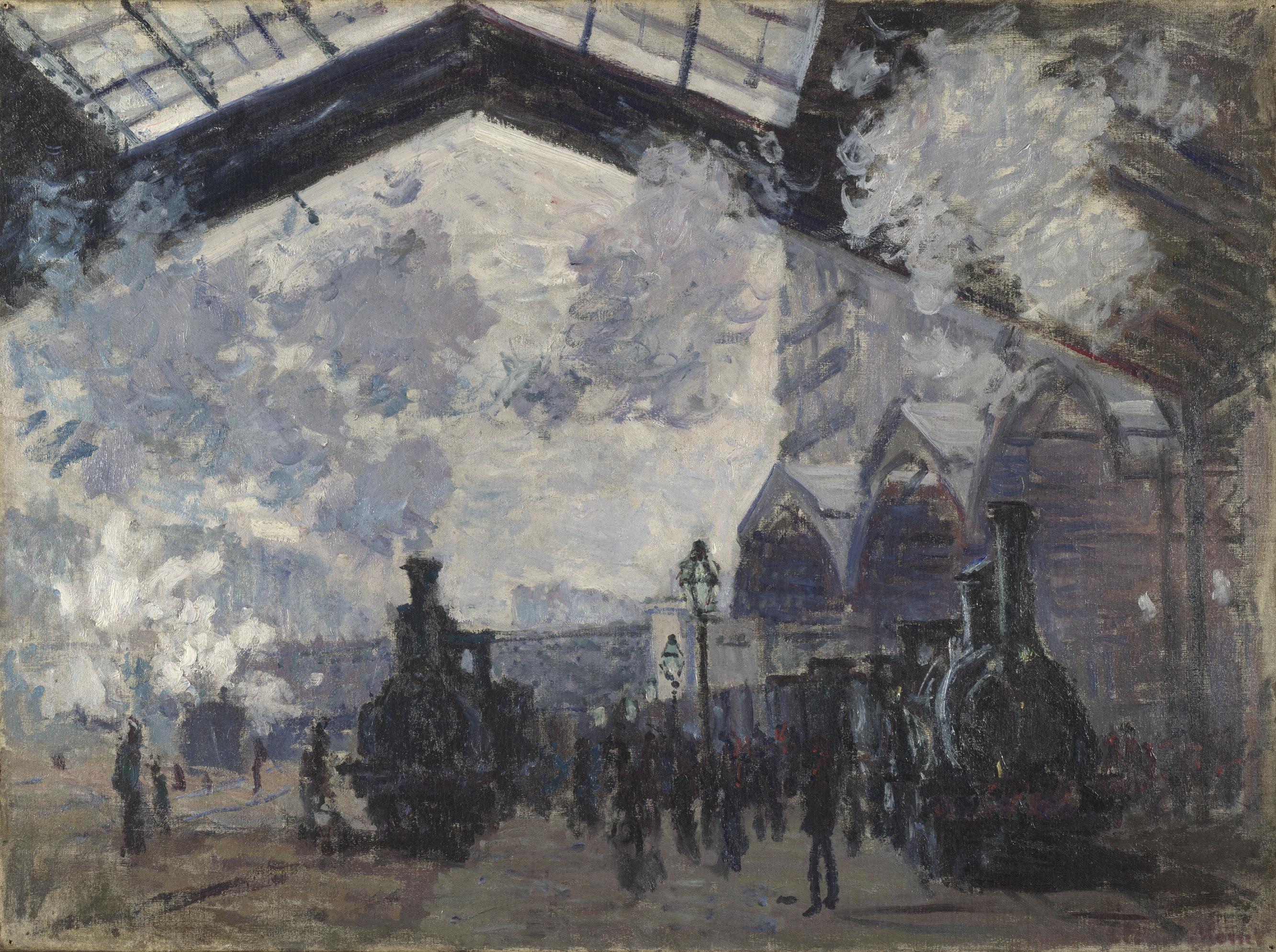 The Saint Lazare Railway Station (1877) By Claude Monet The National