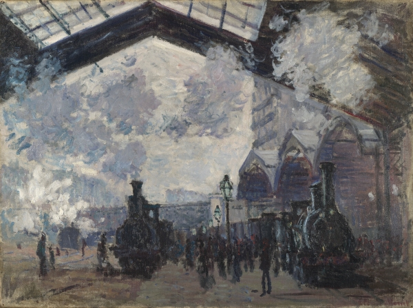 The Saint-Lazare Railway Station (1877) by Claude Monet © The National Gallery, London