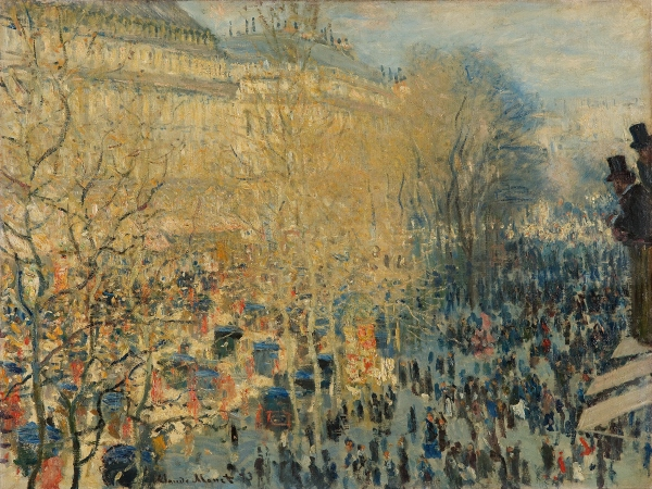 The Boulevard des Capucines, Paris (1873) by Claude Monet © The State Pushkin Museum of Fine Arts, Moscow