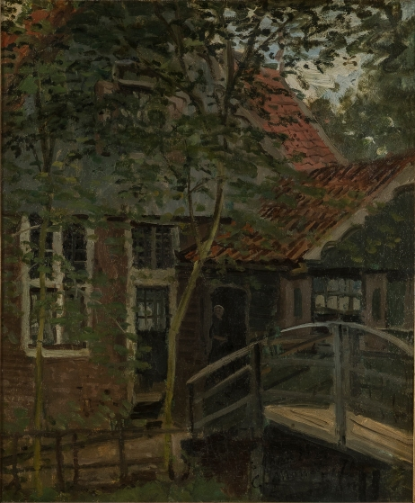 Footbridge at Zaandam, 1871 by Claude Monet. Musées de Mâcon © photo Pierre Plattier, Musées de Mâcon