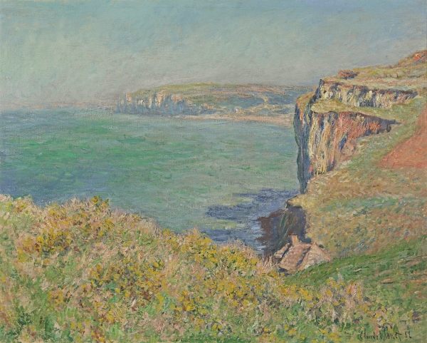 The Cliff at Varengeville (1882) by Claude Monet. Private Collection, USA, Courtesy of Richard Green Gallery, London © Photo courtesy of the owner