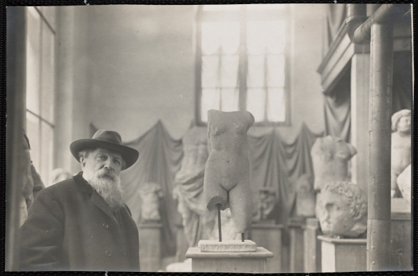 Rodin in his Museum of Antiquities at Meudon on the outskirts of Paris, about 1910 Photo: Albert Harlingue. Image © Musée Rodin