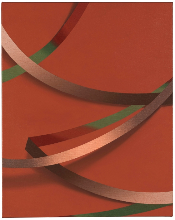 Weie (2017) by Tomma Abts. Acrylic & oil on canvas. Collection of Danny and Lisa Goldberg