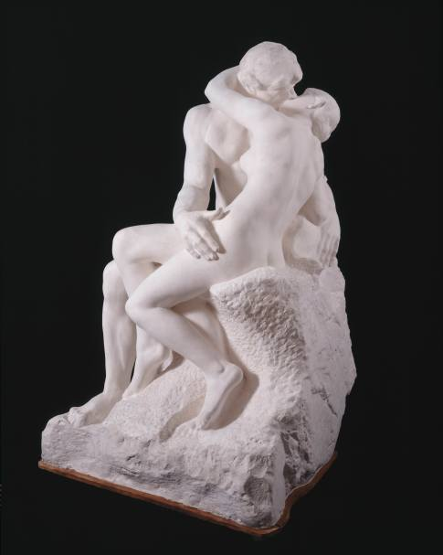 The Kiss by Auguste Rodin, large version, after 1898. Plaster cast from first marble version of 1888–98 © Musée Rodin