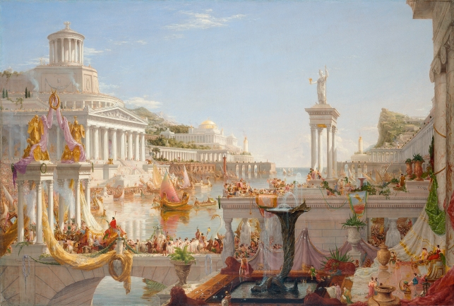 The Course of Empire: The Consummation of Empire (1835–6) by Thomas Cole © Collection of The New-York Historical Society, New York / Digital image by Oppenheimer Editions