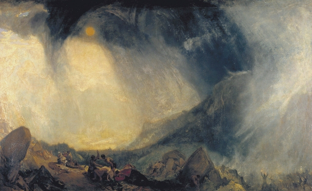 Snow Storm: Hannibal and his Army Crossing the Alps by Joseph Mallord William Turner (1812) © Tate 2018
