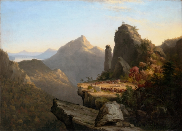 Scene from The Last of the Mohicans, Cora Kneeling at the Feet of Tamenund (1827) by Thomas Cole © Wadsworth Atheneum Museum of Art, Hartford, Connecticut / Allen Phillips
