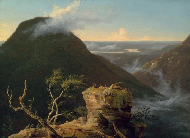 View of the Round-Top in the Catskill Mountains (Sunny Morning on the Hudson) by Thomas Cole (1827) Photo © 2018 Museum of Fine Arts, Boston