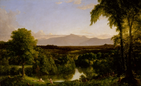 View on the Catskill - Early Autumn (1836–7) by Thomas Cole © The Metropolitan Museum of Art. Photo by Juan Trujillo