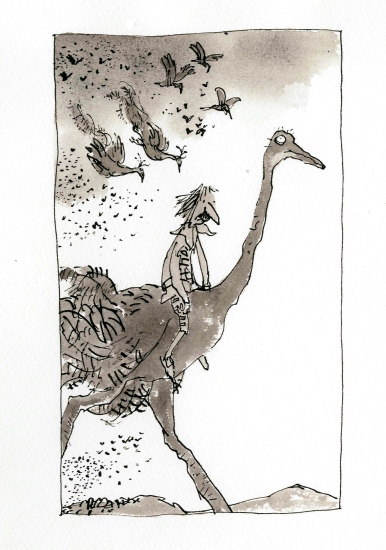 Voyages to the Moon and the Sun ©Quentin Blake
