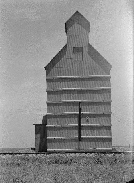Dust Bowl, Grain Elevator, Everett, Texas, June 1938 by Dorothea Lange. Library of Congress