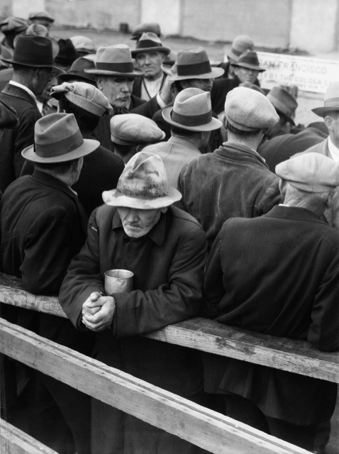 White Angel Breadline, San Francisco, 1933 by Dorothea Lange © The Dorothea Lange Collection, the Oakland Museum of California