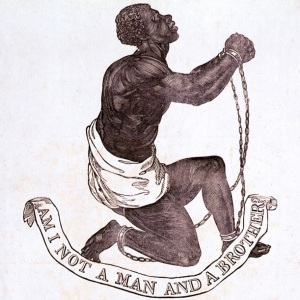 Official Medallion of the British Anti-Slavery Society (1795) by Josiah Wedgwood and William Hackwood