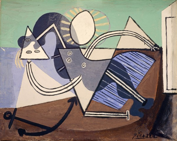 Woman on the Beach (1932) by Pablo Picasso. The Penrose Collection © Succession Picasso/DACS London 2018