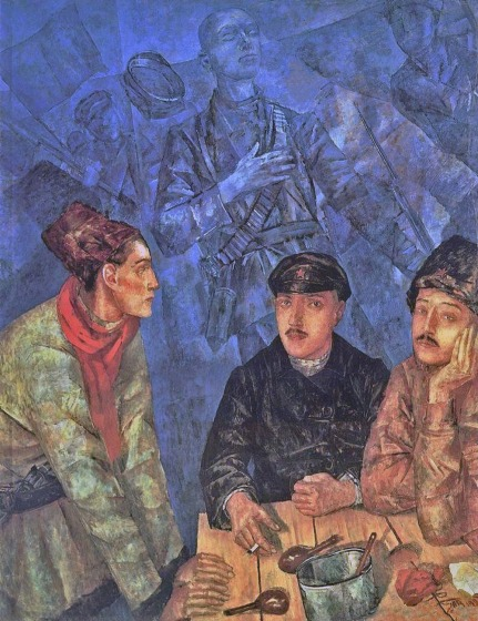 After the battle by Kuzma Petrov-Vodkin (1923)