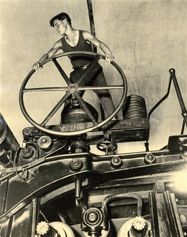 A Komsomol at the wheel (1929) by Arkady Shaikhet