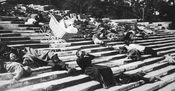 Still from Battleship Potemkin, the famous 1925 avant-garde film directed by Eisenstein