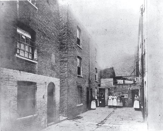 Photo of Boundary Street, London, taken in 1890, part of the Old Nichol slum.