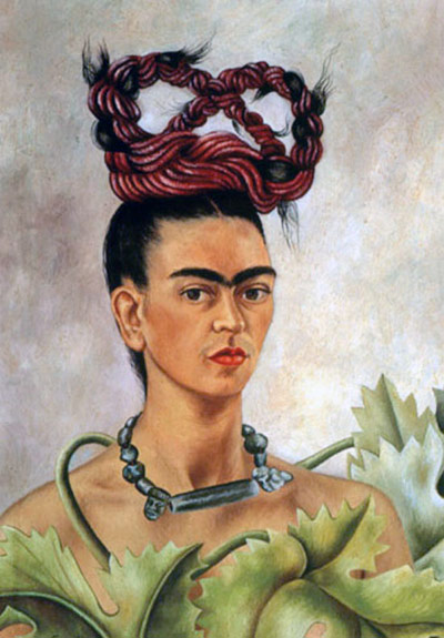 Self Portrait with Braid ( 1941) by Frida Kahlo