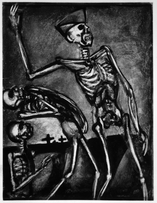 'Arise, you dead!' (War, plate 54) (1922-27) by Georges Rouault. Fondation Georges Rouault © ADAGCP, Paris and DACS, London