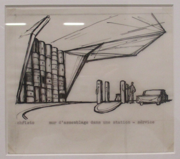 Mur d'assemblage dans un station-service by Christo (1962)