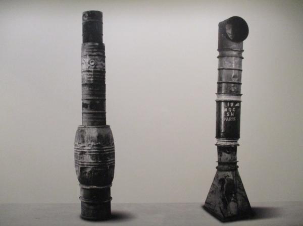 Oil barrel columns by Christo (1962) Photo by Jean-Dominique Lajoux