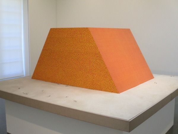 The Mastaba by Christo (1979) Enamel paint, wood, sand and cardboard