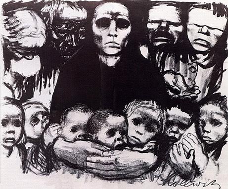 The Survivors (1923) by Käthe Kollwitz