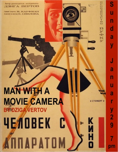 Poster for Man with a movie camera (1929)