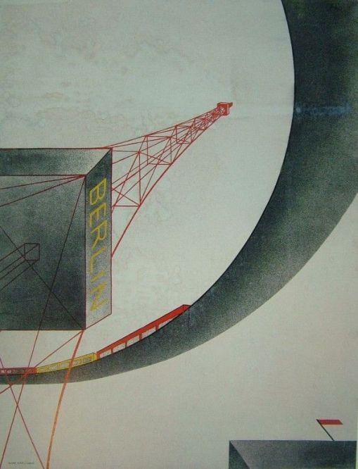 Radio Mast, Berlin (1929) by Oskar Nerlinger