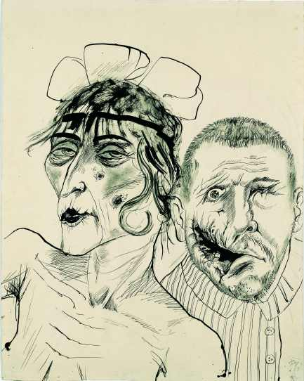 Prostitute and Disabled War Veteran, Two Victims of Capitalism by Otto Dix (1923) © Estate of Otto Dix