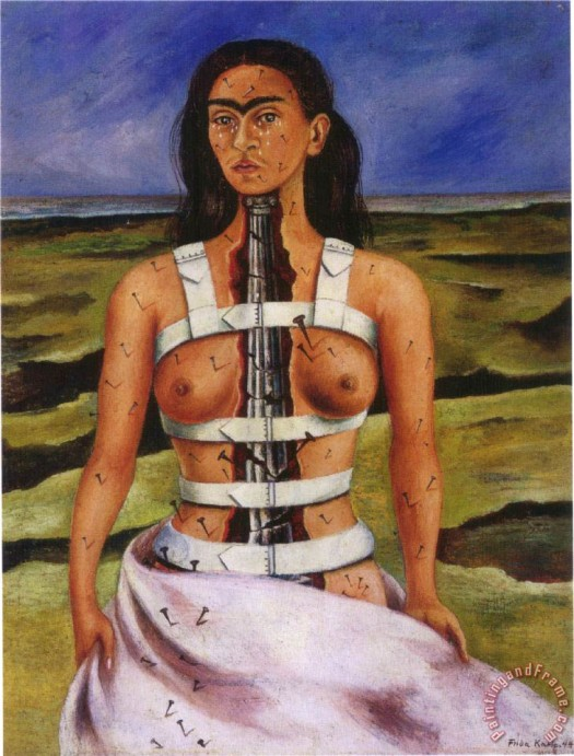 The Broken Column by Frida Kahlo (1944)