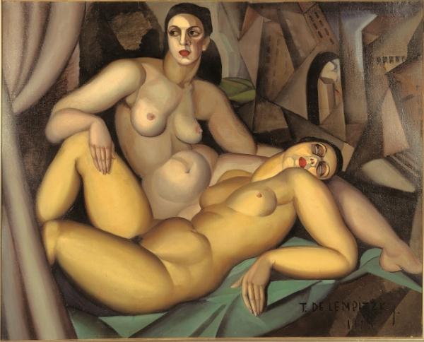 Les deux amies (1923) by Tamara de Lempicka. Association des Amis du Petit Palais, Geneve