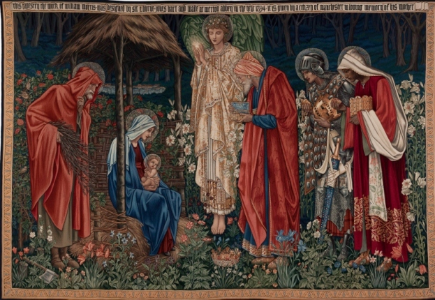 Adoration of the Magi (1894) by Edward Burne-Jones. Victoria and Albert Museum