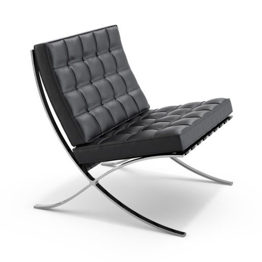 Barcelona chair by Mies van der Rohe (1929)