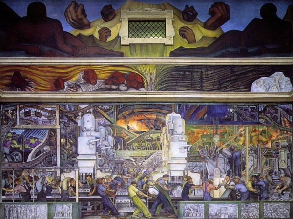 North wall of Diego Rivera's Detroit Murals (1933)