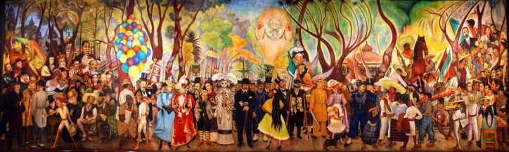 Dream of a Sunday Afternoon in Alameda Park by Diego Rivera (1947)