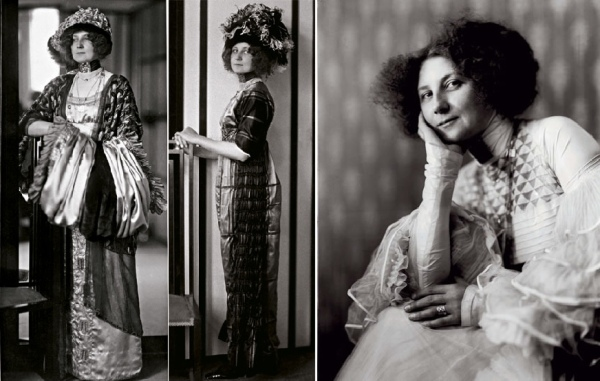 Emilie Flöge and dress designs c.1900