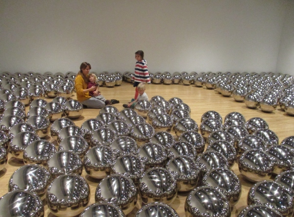 Installation view of Narcissus Garden by Yayoi Kusama
