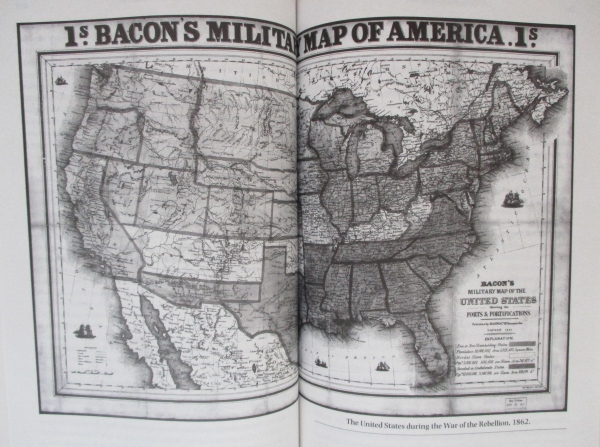 Bacon's Military Map of America, 1862
