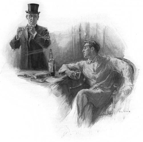 Arthur Raffles, gentleman thief (standing) and his sidekick Harry 'Bunny' Manders