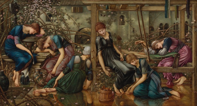 The Garden Court (1874-84) by Edward Burne-Jones. the Faringdon Collection Trust