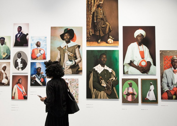 Installation view of Liberty/Diaspora by Omar Victor Diop
