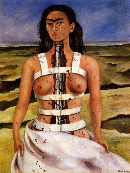 The Broken Column by Frida Kahlo (1944) (or a portrait of the artist as a martyr)