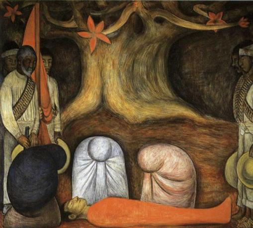 'The Blood of the Martyrs' from the Chapel at Chapingo by Diego Rivera (1926)