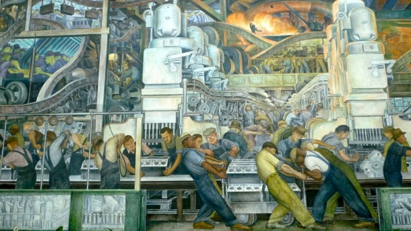 North Wall at the Detroit Institute for Arts by Diego Rivera (1933)